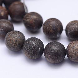 "Brins de bronzite natrual, mat, rond, 10mm, trou: 1mm; environ 38 pcs/chapelet, 15.5""(G-D745-10mm)"