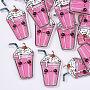 39mm PearlPink Bottle Plastic Cabochons(KY-T015-07)